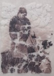 fractured lamination from vylene stencil